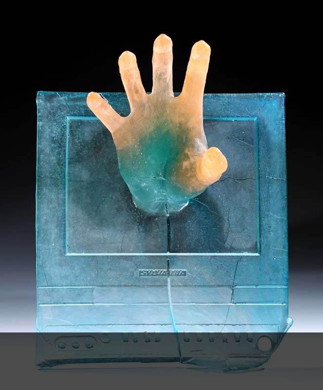 Hands Off, 2018, cast glass