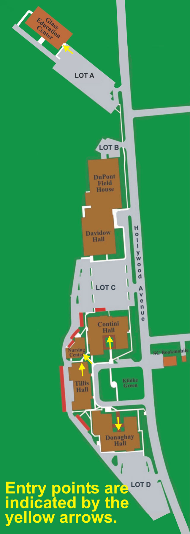 Campus Map Entrances During Stage 2 & 3